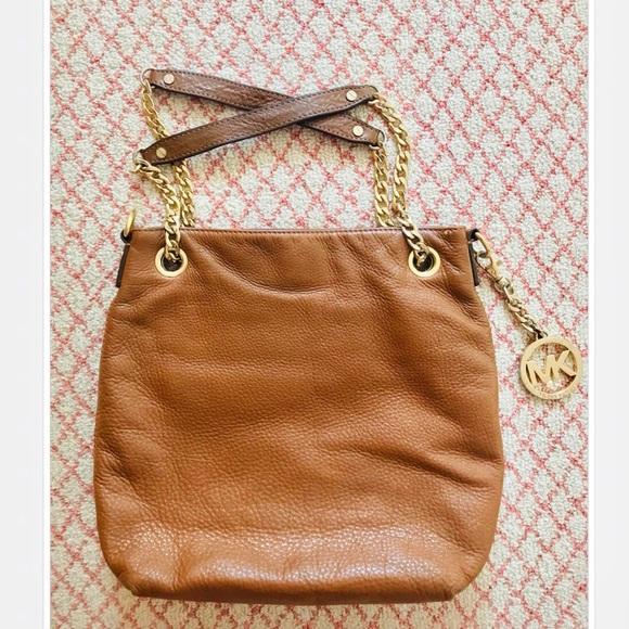 Michael Kors Handbags - Michael Kors Brown Leather Handbag Purse
